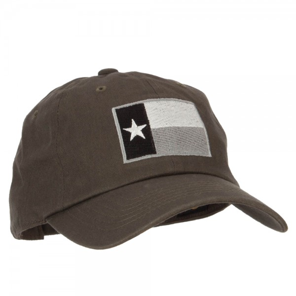 ... Silver Texas Flag Embroidered Unstructured Washed Cap - Olive ... 3f8dca1f79d