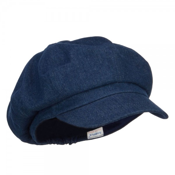 Newsboy - Denim Big Size Cotton Newsboy Hat  f7f6ef37ff9