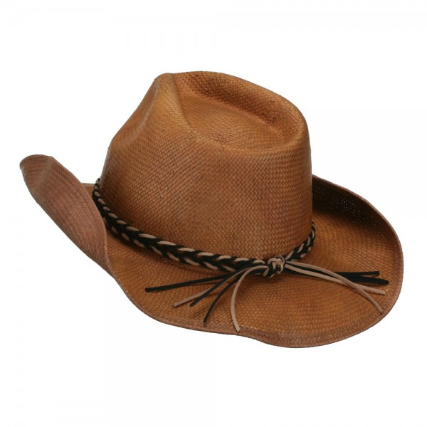 11f3d2c03 Twisted Band Men's Cowboy Hat - Brown