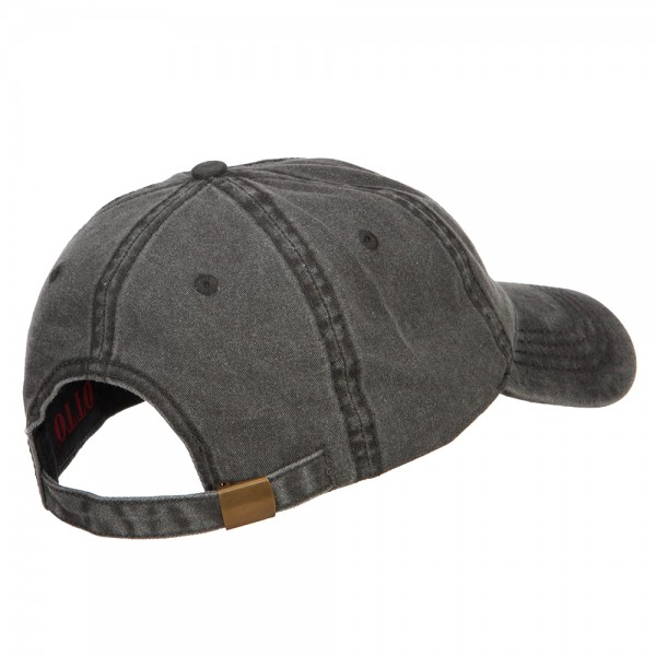 e4Hats.com Silver American Flag Embroidered Washed Cap