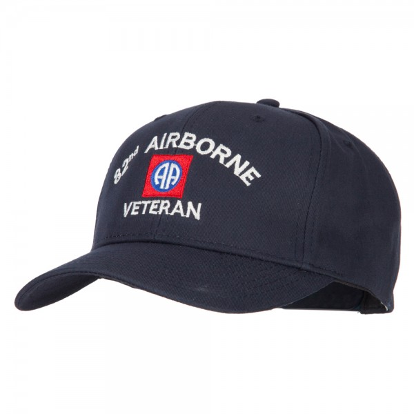 US Army 82nd Airborne Logo Embroidered Solid Cotton Pro Style Cap