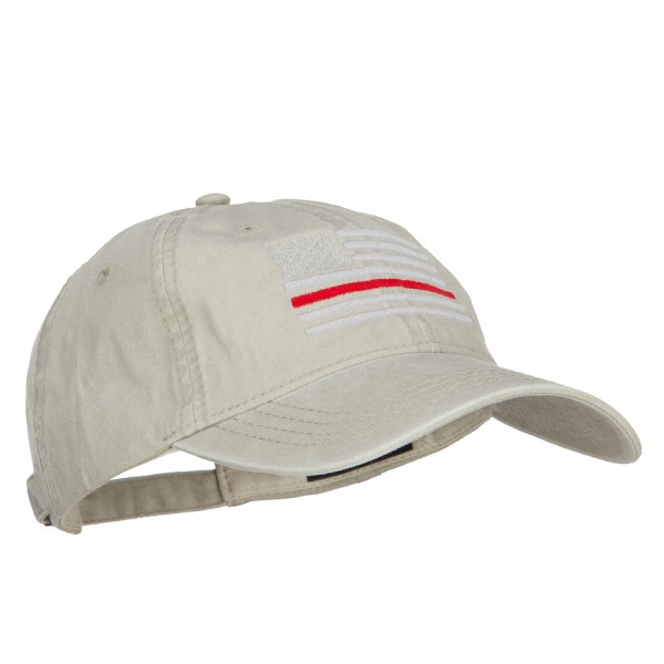 930b7a8db6b ... Stone (View 10). Quick Overview. Stone Thin Red Line Silver USA Flag  Embroidered Washed Cap