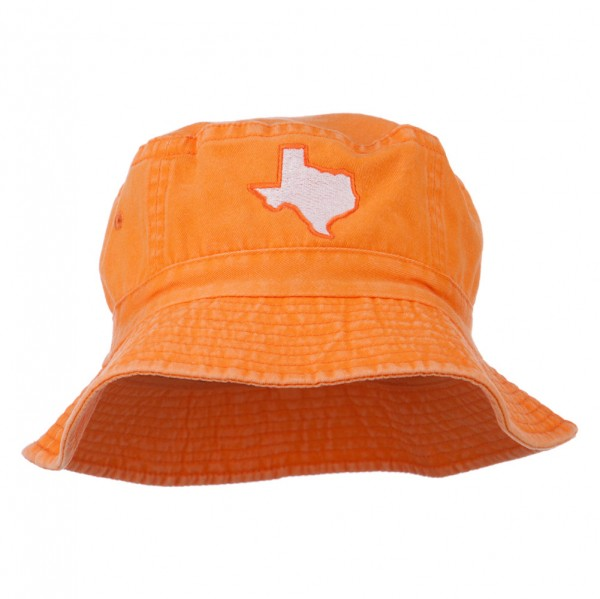 5a3a17991a7cb ... Texas State Map Embroidered Bucket Hat - Orange. Orange (View 1) ...