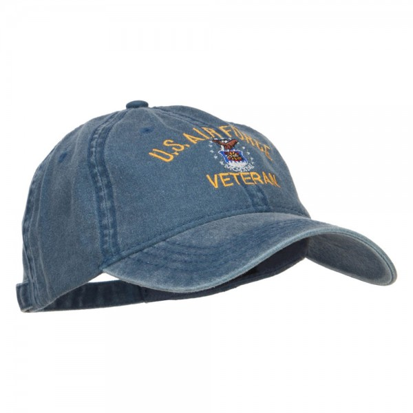 b822d7eb0b4 ... US Air Force Veteran Military Embroidered Washed Cap - Navy ...