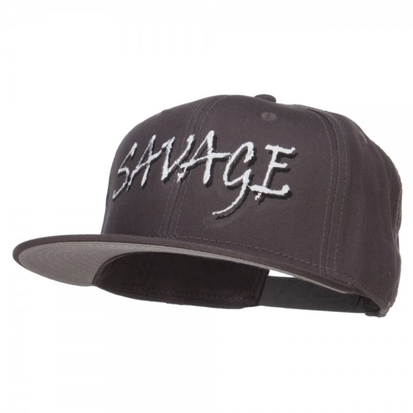 82124ccb5f743 Embroidered Cap - Charcoal Savage Embroidered Snapback