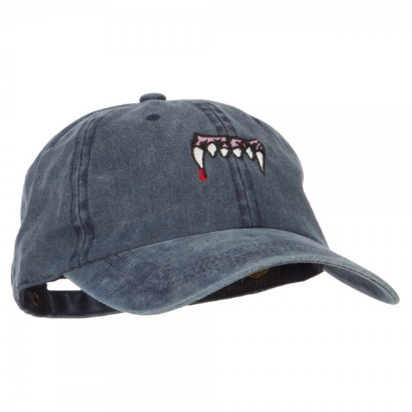 e4Hats.com Vampire Fangs Embroidered Unstructured Cotton Cap