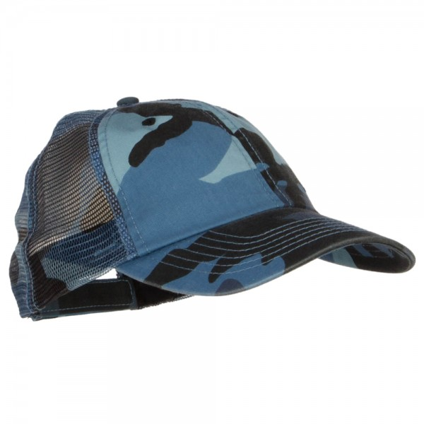 f532b4c16a5b7 ... Enzyme Washed Camouflage Trucker Cap - Blue Camo ...