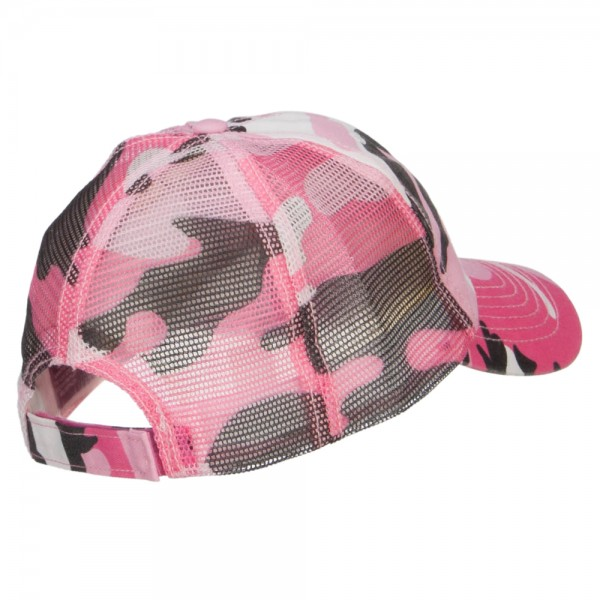 1b31e4860acfd ... Enzyme Washed Camouflage Trucker Cap - Pink Camo ...