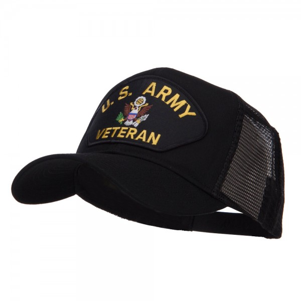 52988d3a873 ... US Army Veteran Military Patched Mesh Cap - Black ...