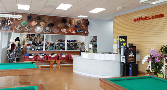 Embroidery Hat Cap Store With Custom Design EHats - Fullerton pool table